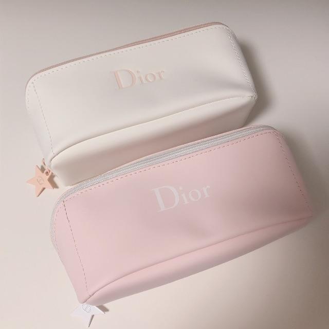Christian Dior(クリスチャンディオール)のピンク&白♡Dior ディオール ポーチ ノベルティ レディースのファッション小物(ポーチ)の商品写真