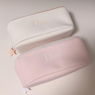 Christian Dior - ピンク&白♡Dior ディオール ポーチ ノベルティ
