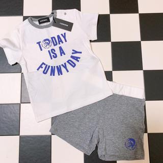 ディーゼル(DIESEL)の新品タグ付き♡DIESEL セットアップ Tシャツ ハーフパンツ (Tシャツ)