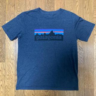 patagonia - パタゴニア Tシャツ ロゴT ダークグレー Sサイズ レギュラーフィット 定番