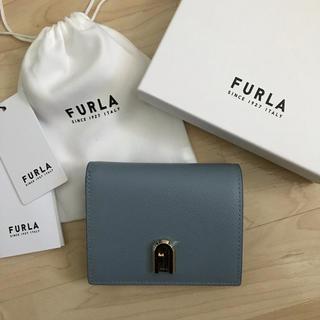Furla - 新品!フルラ 二つ折り財布 ブルー 青 水色