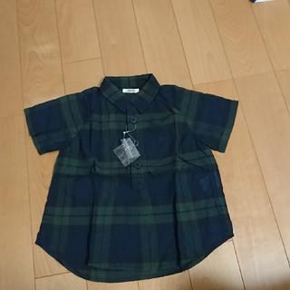 フェリシモ(FELISSIMO)の新品☆フェリシモ☆ハラッパ☆ブラックウォッチ半袖シャツ100㎝(Tシャツ/カットソー)