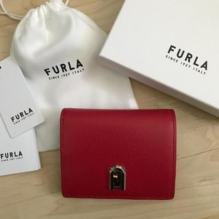 Furla - 新品!フルラ 二つ折り財布 赤 レッド 折財布 ミニサイズ