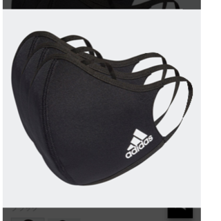 adidas - アディダスフェイスカバー ブラックM/L 3枚セット