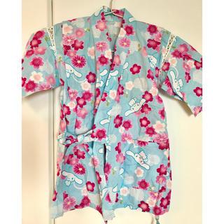 サンリオ(サンリオ)の女の子 甚平 120 シナモンロール シナモロール サンリオ 水色(甚平/浴衣)