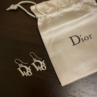 クリスチャンディオール(Christian Dior)の《DIOR》ストーン付きロゴピアス(ピアス)