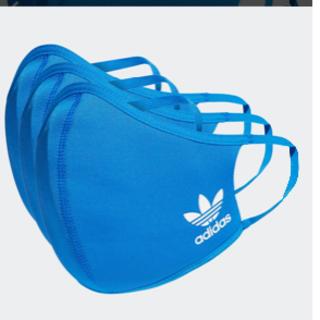 adidas - アディダスフェイスカバー ブルー M/L 3枚セット