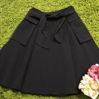FOXEY - フォクシー レディストレッチスカート黒