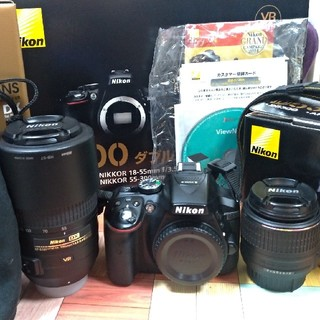 Nikon - D5300 ダブルズームキット BLACK ニコン 箱付き