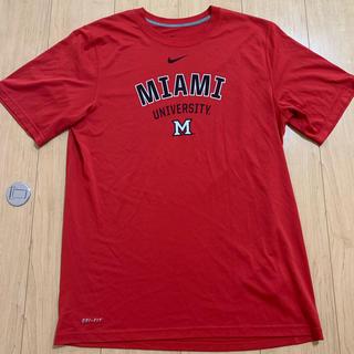 ナイキ(NIKE)のNIKE Tシャツ マイアミ大学 日本Mサイズ相当(Tシャツ/カットソー(半袖/袖なし))