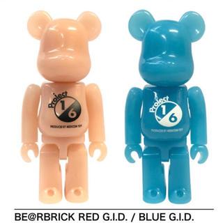 メディコムトイ(MEDICOM TOY)の1/6計画 BE@RBRICK RED&BLUE G.I.D 100%セット(その他)