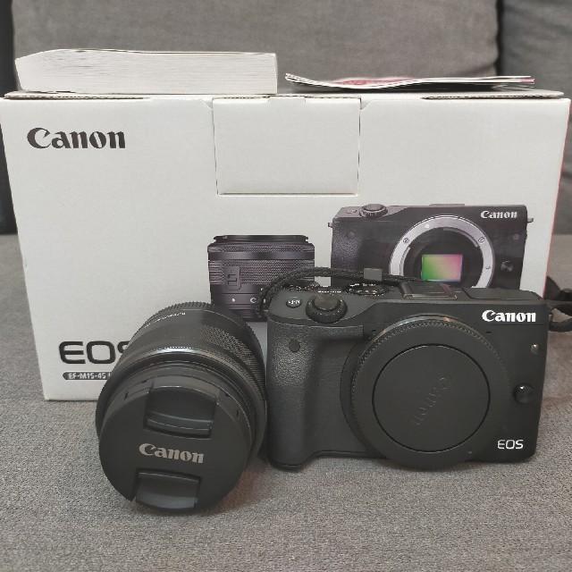 Canon(キヤノン)の【美品】Canon EOS M3 本体+レンズ おまけ付き スマホ/家電/カメラのカメラ(デジタル一眼)の商品写真