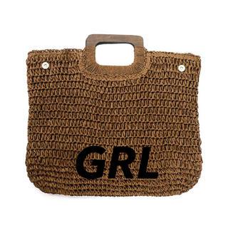 グレイル(GRL)のペーパースクエアバッグ(ブラウン)(ハンドバッグ)
