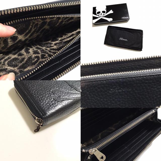 Roen(ロエン)のRoen ロエン 本革 レザー 長財布 スカル ドクロ 髑髏 黒色 ウォレット メンズのファッション小物(長財布)の商品写真
