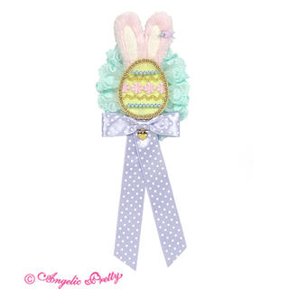アンジェリックプリティー(Angelic Pretty)のHappiness bunny ブローチ イエロー(ブローチ/コサージュ)