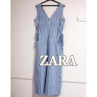 ZARA - ZARA サイドリボンオールインワン