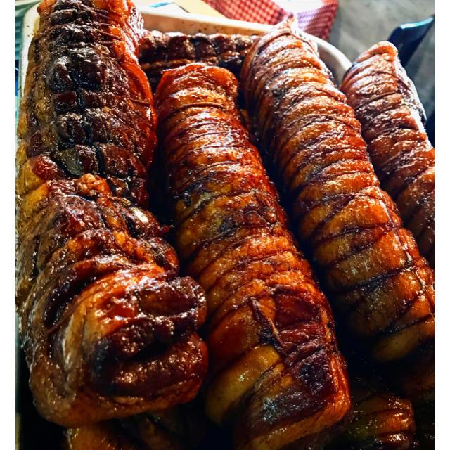 豚バラ肉のバルサミコチャーシュー 一本 オリジナル自家製 食品/飲料/酒の加工食品(その他)の商品写真