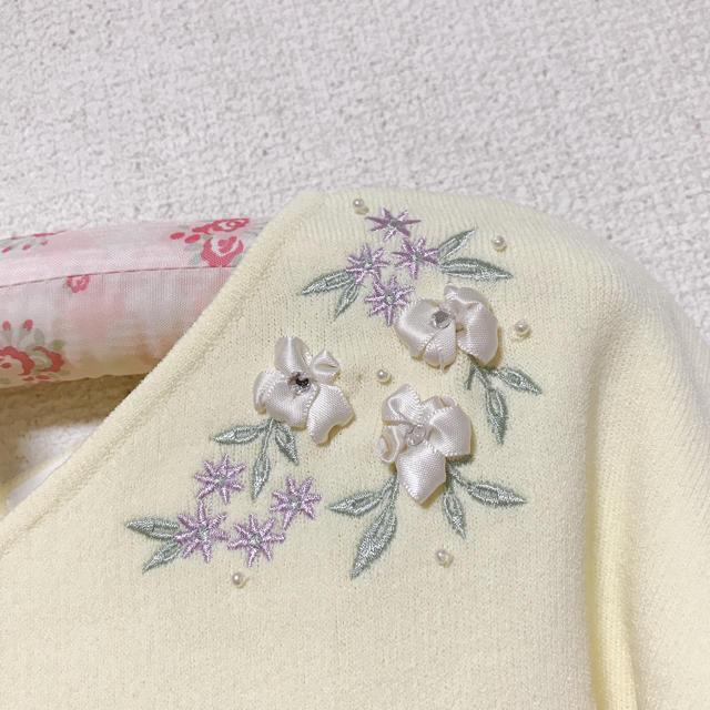 Rew de Rew(ルーデルー)のルゥデルゥ♡お花刺繍トップス レディースのトップス(カットソー(長袖/七分))の商品写真