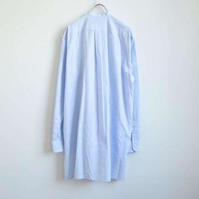 COMOLI(コモリ)の18aw comoli バンドカラーシャツ サックス メンズのトップス(シャツ)の商品写真