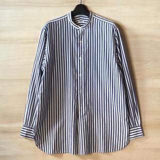 COMOLI - comoli サイズ1 ストライプバンドカラーシャツ コモリ