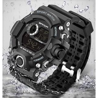 2020NEW黒◆ビッグフェイス ダイバーズウォッチメンズ腕時計デジタル(腕時計(デジタル))