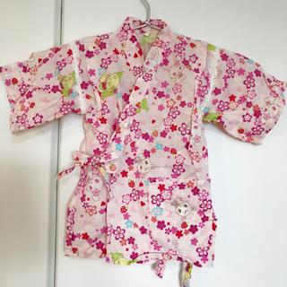 サンリオ(サンリオ)の女の子 甚平 ジュエルペット 100 サンリオ 夏祭り キッズ 子供(甚平/浴衣)