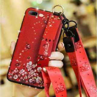 iPhoneX,XSケース バタフライ柄 花柄 ストラップ付き