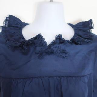 ピンクハウス❤️丸襟とお袖フリルが可愛い胸元リボン付き長袖ブラウス(シャツ/ブラウス(長袖/七分))