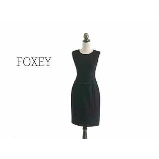 FOXEY - FOXEY フォクシー ワンピース ブラック ノースリーブ