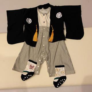 袴ロンパース 80  靴下付き
