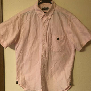 アベイシングエイプ(A BATHING APE)のA BATHING APE ピンクシャツ(Tシャツ/カットソー(半袖/袖なし))