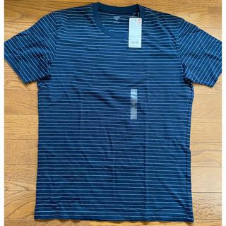 ユニクロ(UNIQLO)のスーピマコットンボーダーT ネイビー Mサイズ(Tシャツ/カットソー(半袖/袖なし))