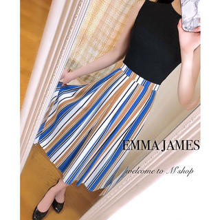 EMMAJAMES - エマジェイムス ◆ マルチストライプフレアスカート ◆