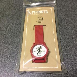 SNOOPY - 【先着1名様限定★新品未使用】PEANUTS スヌーピー 腕時計 レッド