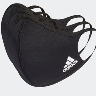 adidas - 【2枚】アディダス ブラック フェイスカバー 2枚セット 子供用