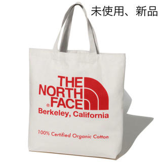THE NORTH FACE - ノースフェイス オーガニックコットン トートバッグ 赤 未使用、新品 タグ付き