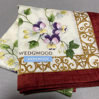 ウェッジウッド(WEDGWOOD)のウェッジウッドハンカチ新品未使用シール付き(ハンカチ)