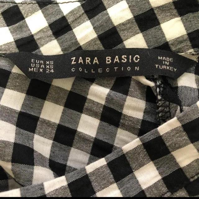ZARA(ザラ)のZARA チェックブラウス レディースのトップス(シャツ/ブラウス(半袖/袖なし))の商品写真