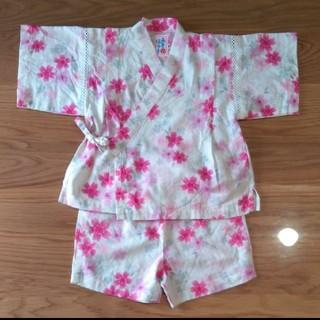 ミキハウス(mikihouse)の90サイズ ミキハウス 甚平 女の子 花柄(甚平/浴衣)