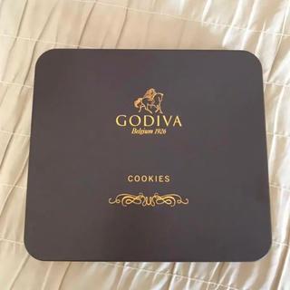 ゴディバ  クッキー ケース ゴールド ブラウン(菓子/デザート)