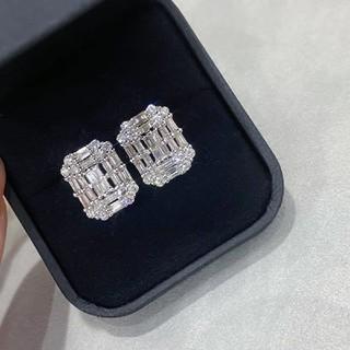 天然ダイヤモンドピアス2ct k18