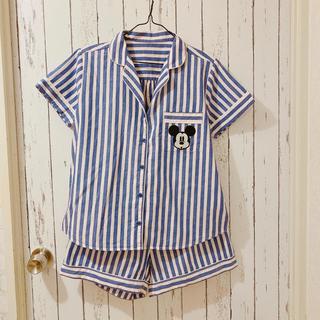GU - ミッキー ストライプ パジャマ ブルー M