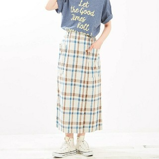 キューブシュガー(CUBE SUGAR)のキューブシュガーチェックスカート(ロングスカート)