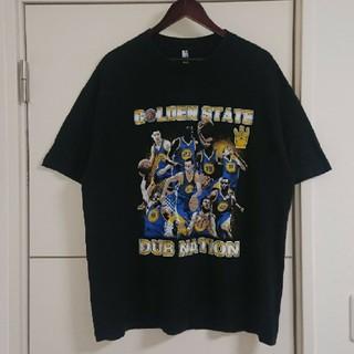 NBA ウォリアーズ Tシャツ デカプリント 古着 ビッグシルエット バスケ
