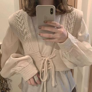 EDIT.FOR LULU - knit bustier + blouse  set