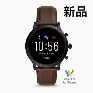 フォッシル(FOSSIL)のフォッシル THE CARLYLE HR ダークブラウンレザー FTW4026(腕時計(デジタル))