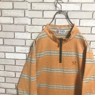 ラルフローレン(Ralph Lauren)のチャップス ラルフローレン ボーダー オーバーサイズ ハーフジップ ロンT(Tシャツ/カットソー(七分/長袖))