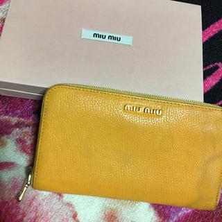 ミュウミュウ(miumiu)の♥miumiu♥長財布♥ウォレット♥(財布)