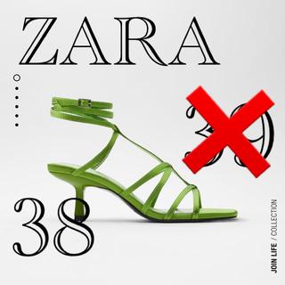 ZARA - ZARA2020新作サテンヒール新品