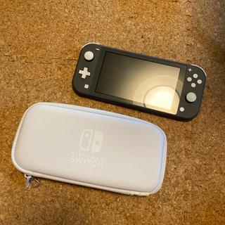 Nintendo Switch - Nintendo Switch Lite グレー ケース付き 中古